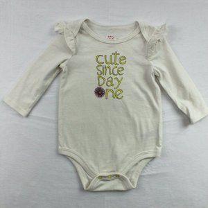 Cat & Jack Baby Girl Long Sleeve Bodysuit Size 3-6